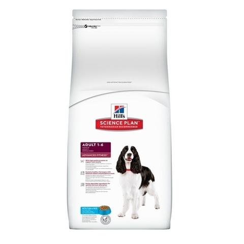 12 кг. HILL'S Science Plan Сухой корм для взрослых собак с тунцом и рисом Adult Advanced Fitness Medium Tuna&Rice