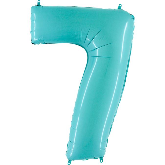 Голубая цифра 7