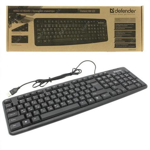 Клавиатура компьютерная DEFENDER Element HB-520 USB G серый