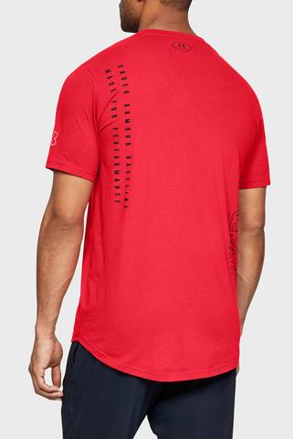 Мужская красная футболка UA BASELINE FLIP SIDE SS TEE-RED Under Armour