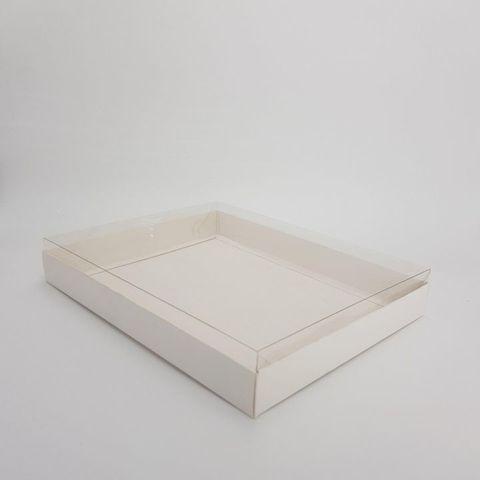 Коробка для пряников  Белая Классика 26х21х4 см