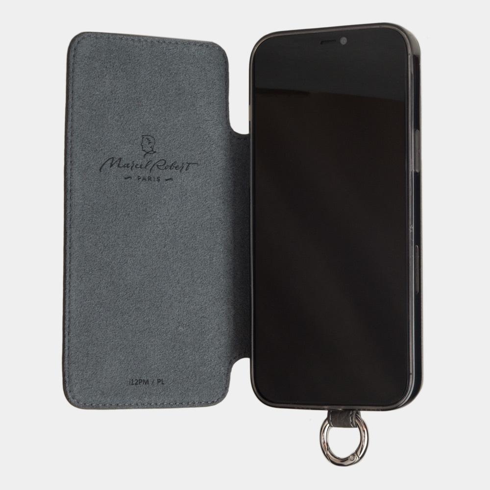 Чехол Marcel для iPhone 12 Pro Max из натуральной кожи теленка, серого цвета