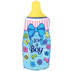 Фольгированный шар Бутылочка Это мальчик 88 Х 43см