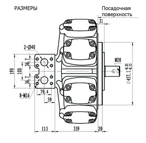 Гидромотор IPM9-3550