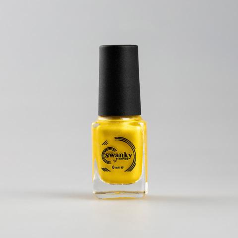 Лак для стемпинга Swanky Stamping M05, желтое золото, 6 мл.