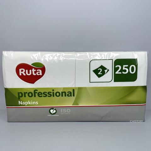 Салфетки Ruta Professional 33х33 см 2сл. 1/8 сложения (250 шт.) белые (k0543)