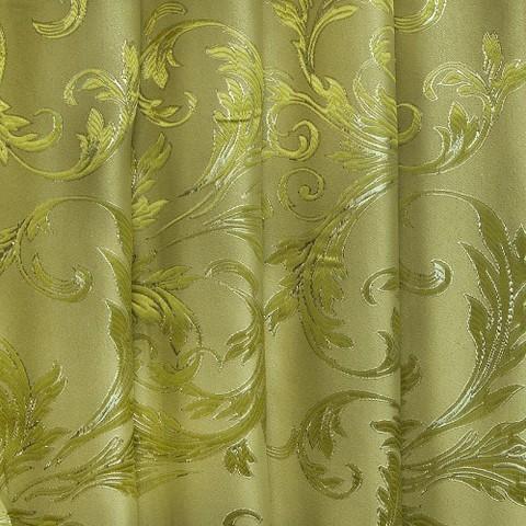 Портьерная ткань с люрексом 150 см Х7187 цвет 6 салатовый ветка