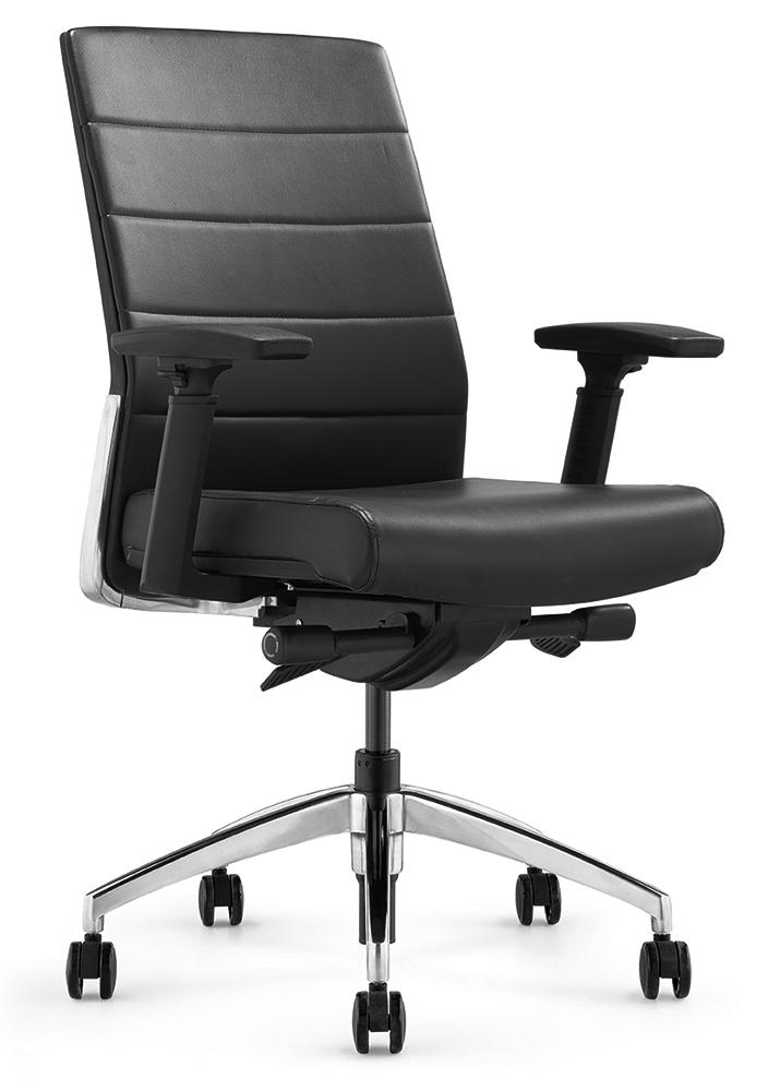 Офисное кресло Andico LB черная кожа - вид 1