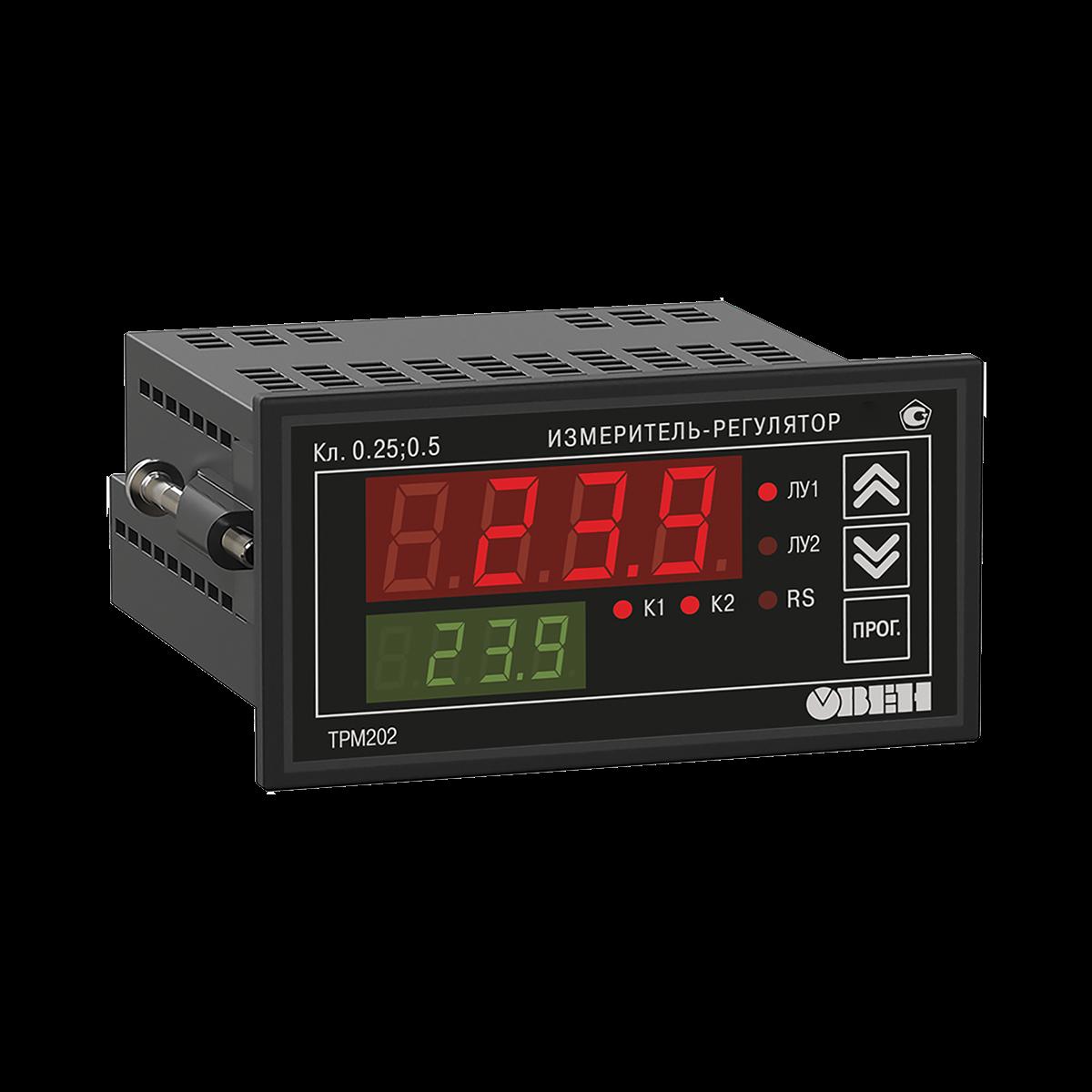 ТРМ202 двухканальный регулятор с универсальным входом и RS-485