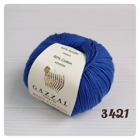 GAZZAL BABY COTTON 3421, Василек