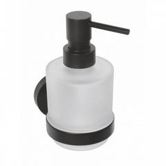 Настенный дозатор для жидкого мыла (стекло) Bemeta Dark 104109100 фото