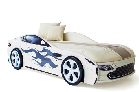 Кровать-машина «Бондмобиль белый»