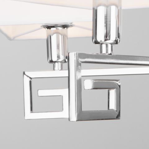 Потолочная люстра с абажурами 60115/5 хром
