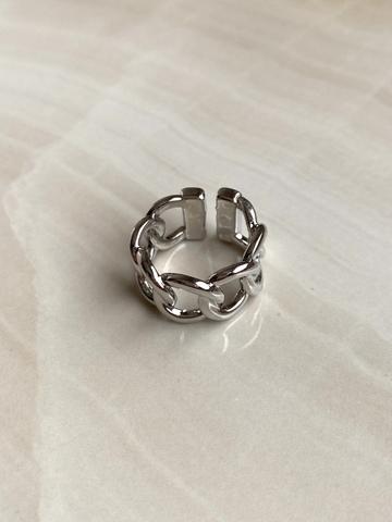 Кольцо Сплетенара, серебряный цвет