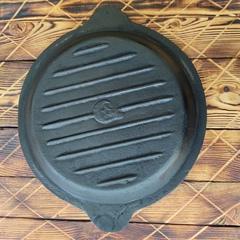 Чугунная крышка сковорода для казана 8л