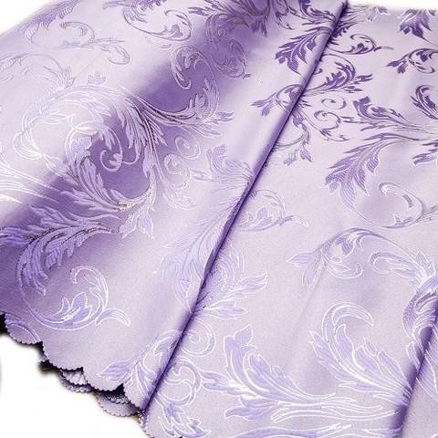 Портьерная ткань с люрексом 150 см Х7187 цвет 4 фиолетовый ветка