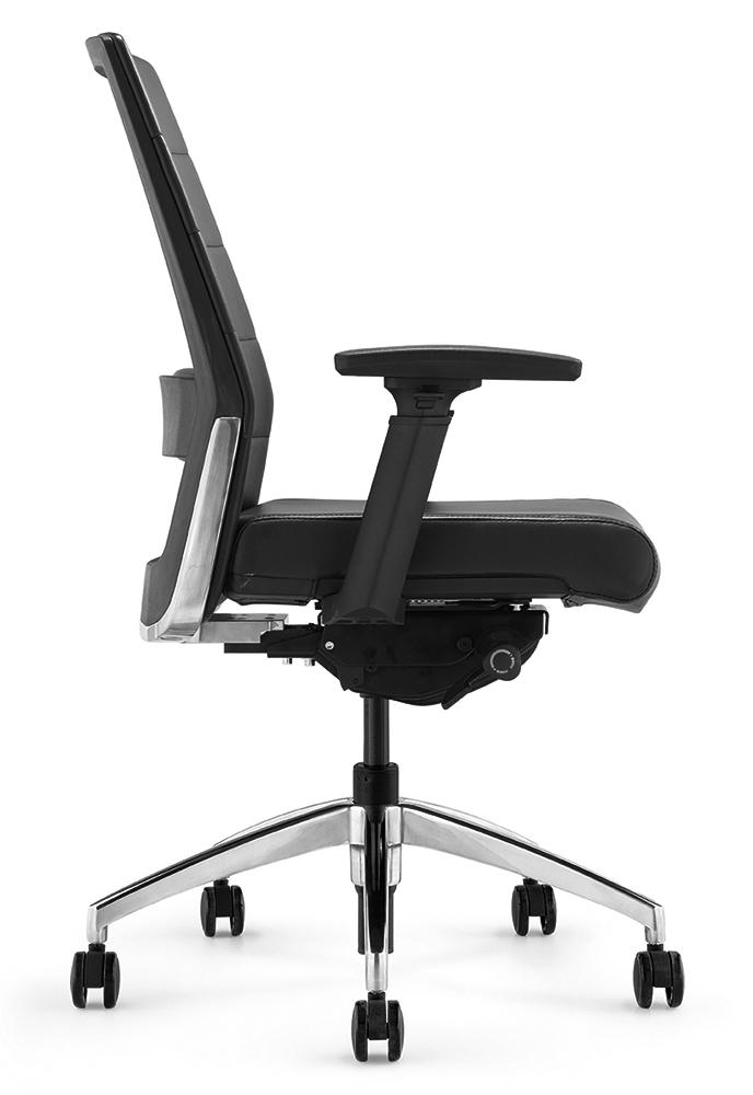 Офисное кресло Andico LB черная кожа - вид 2