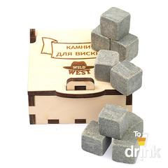 Камни для виски в деревянной коробке Wild West, 9 шт, фото 8