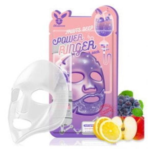 Тканевая маска ТМ ELIZAVECCA FRUITS DEEP POWER RINGER MASK PACK
