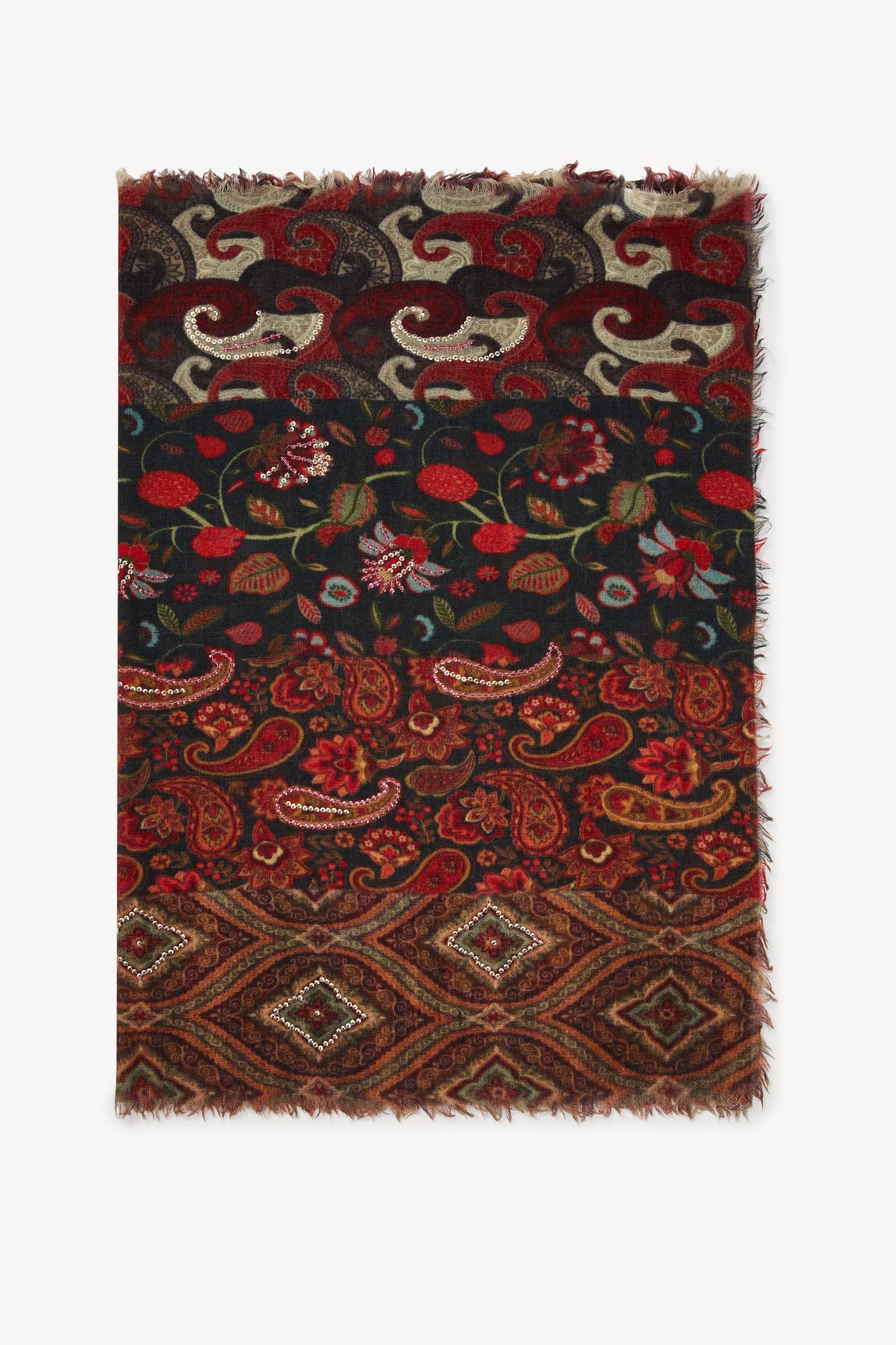 GENA - Шерстяной шарф с принтом