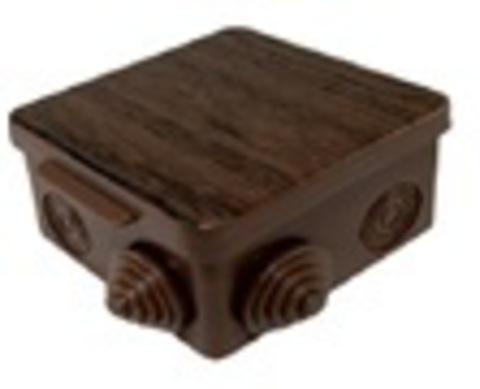 Распаячная коробка ОП 80х80х50мм, крышка, бук, IP54, 7вх. инд. штрихкод TDM
