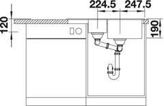 Мойка Blanco Legra 6S Compact - схема