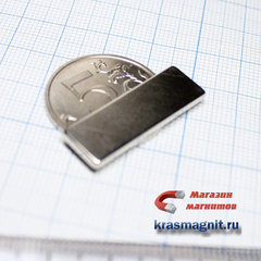 Неодимовый магнит (призма) 30х10х2 мм
