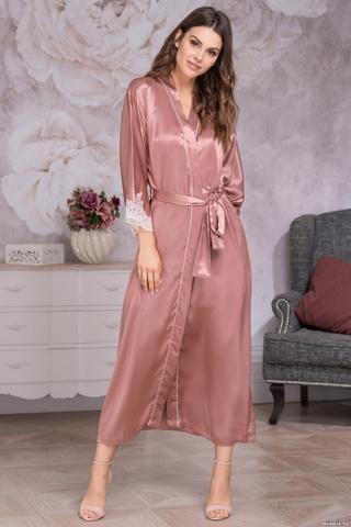 Длинный шелковый халат Mia Amore Deluxe(70% натуральный шелк)