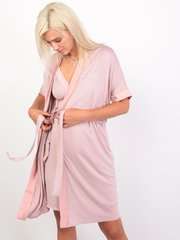 Euromama/Евромама. Комплект халат и сорочка вискозный шелк, сухая роза вид 2