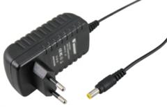 Блок питания 24V DC, 1А, 24W с DC разъемом подключения 5.5*2.1, без влагозащиты (IP23)