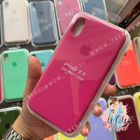Чехол iPhone 6/6S Silicone Case Full /dragon fruit/ тёмная фуксия