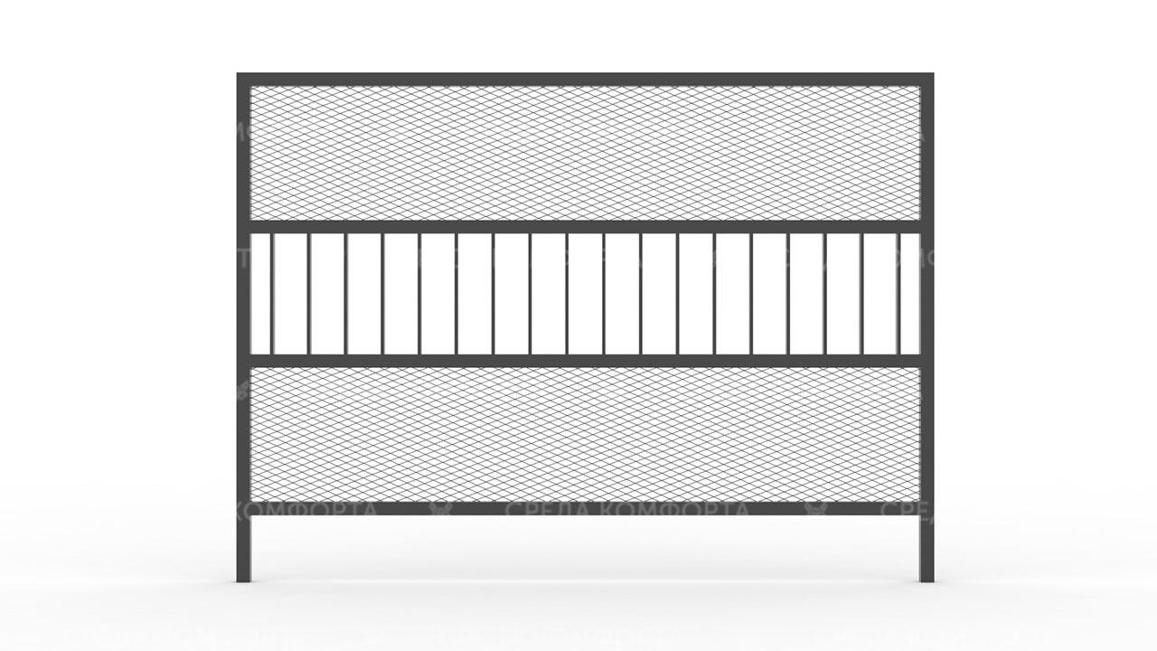Забор из сетки рабицы ZBR0170