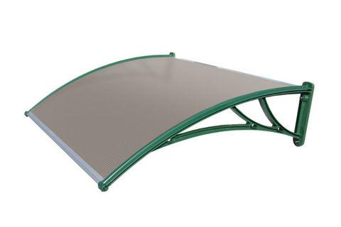 Зеленый козырек из поликарбоната Кровент