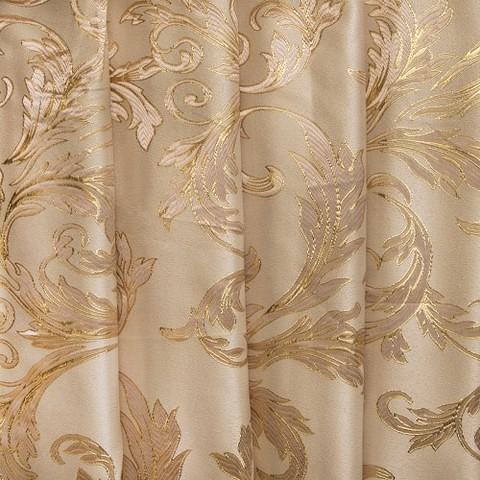 Портьерная ткань с люрексом 150 см Х7187 цвет 10 бежевый ветка