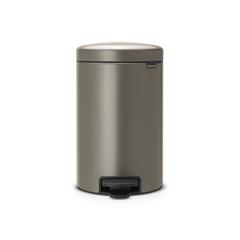 Мусорный бак newicon (12 л), Платиновый