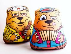 Подушка-игрушка антистресс Gekoko «Медведь-гармонист» 5