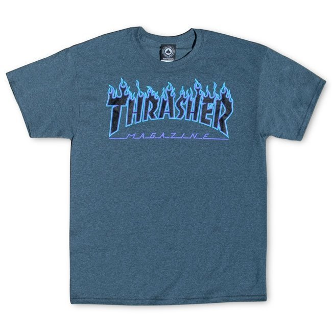 Футболка THRASHER Flame Dark Heather