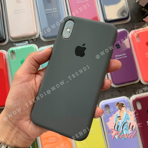Чехол iPhone 6+/6S+ Silicone Case Full /charcoal grey/ уголь