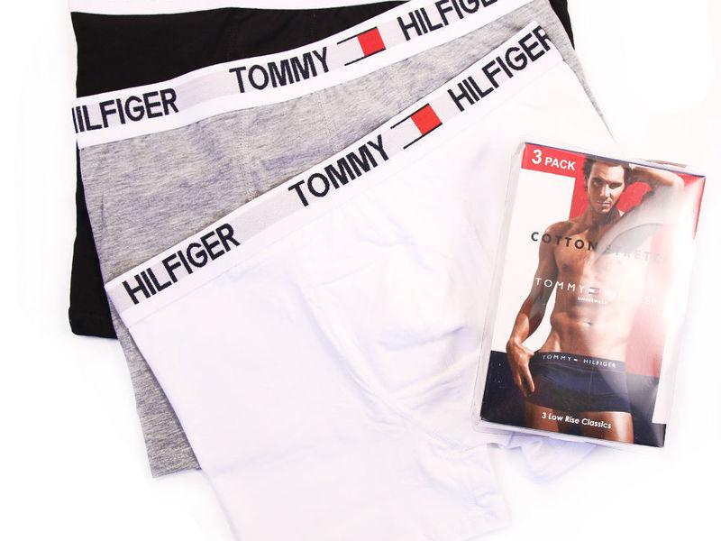 Набор мужских трусов боксеров 3шт (черные ,серые ,белые ) Tommy Hilfiger Classic set