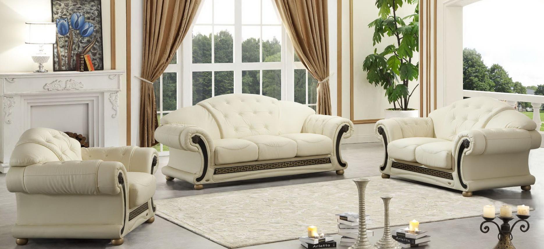 Комплект мягкой мебели  Versace белый