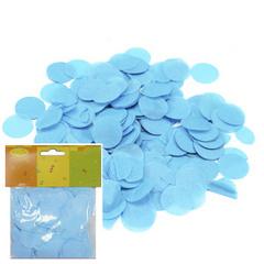 Y Конфетти бумажное Круги голубые 2,5см (14гр)