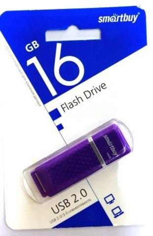 Флеш-накопитель USB  16GB  Smart Buy  Quartz  фиолетовый