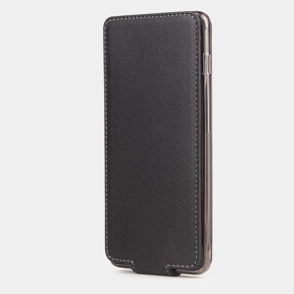 Чехол для Samsung Galaxy S10 Plus из натуральной кожи теленка, черного цвета