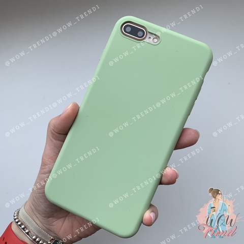 Чехол iPhone 7/8 Plus Silicone Slim Case /mint gum/ No Logo