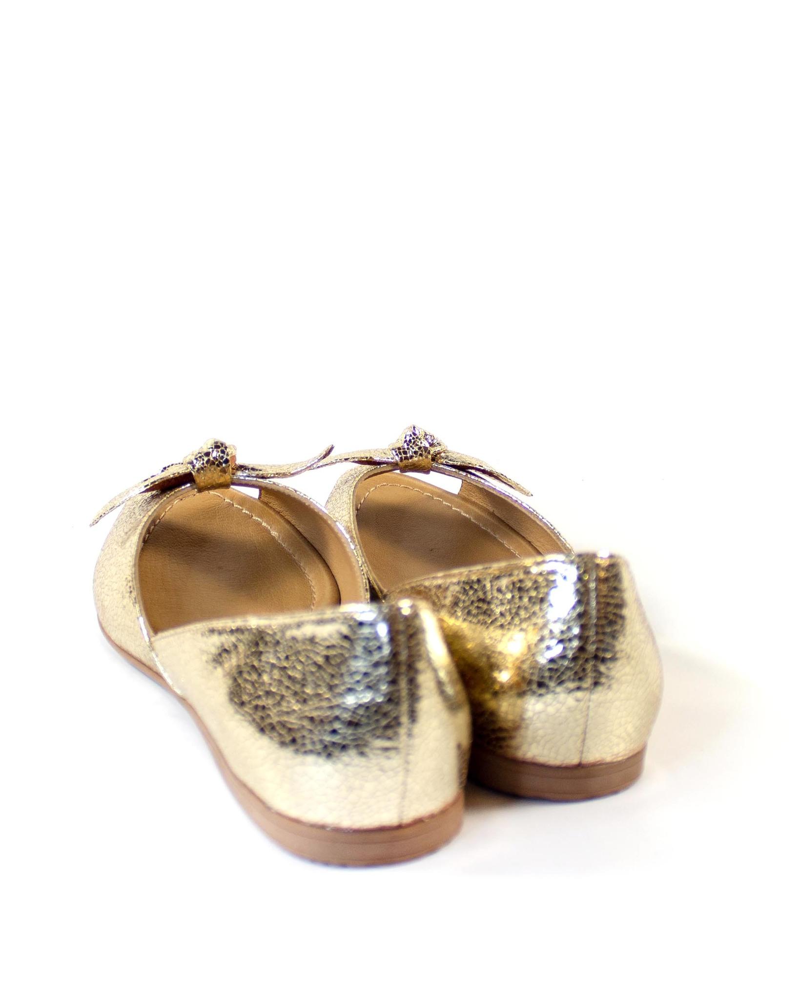золотые балетки Mario Muzi
