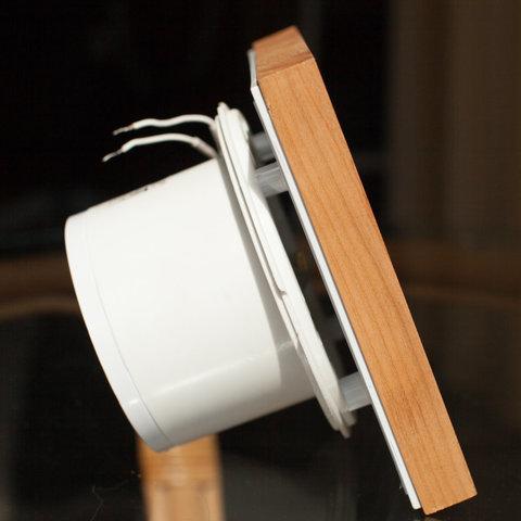 Вентилятор накладной сверхтонкий MMotors JSC MMP-90 Дерево/Натуральная Вишня