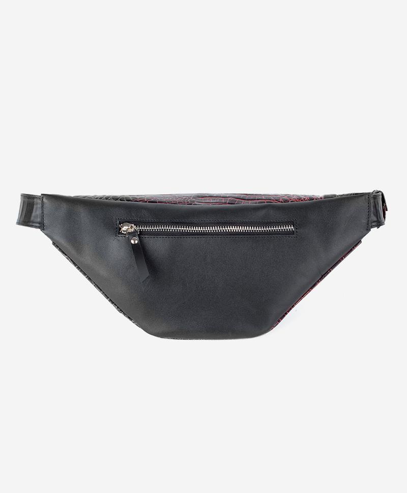 Поясная сумка бордовый кайман
