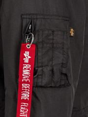 Парка Alpha Industries J-4 Impact Fishtail W Black (Черная)