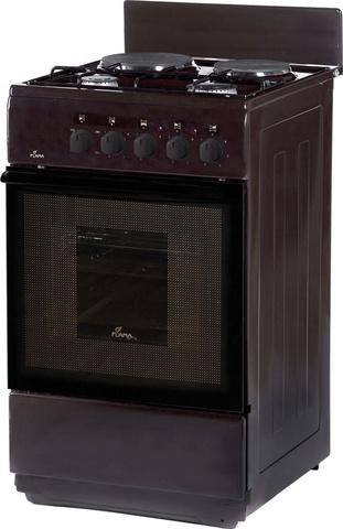 Плита Комбинированная Flama RK 2201 B коричневый (без крышки) реш.сталь никелированная