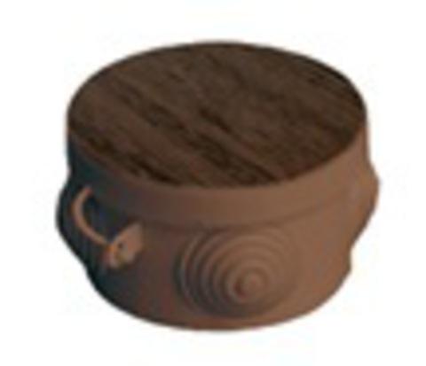 Распаячная коробка ОП D85х40мм, крышка, бук, IP54, 4вх.  инд. штрихкод TDM